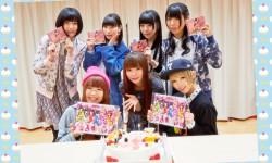 しょこたん❤でんぱ組、新曲「PUNCH LINE!」レコーディングで、サプライズバースデーパーティー!